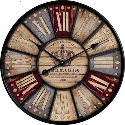 34 wooden wall clocks to 34cm 60cm vintage retro wall with number