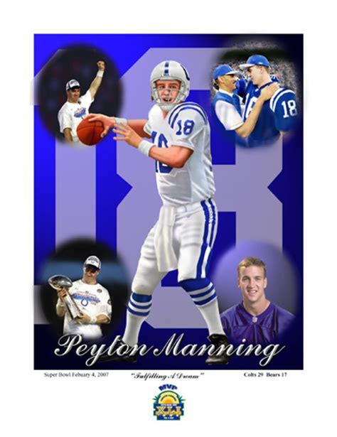Peyton Manning Quarterback Indianapolis Colts Football Art