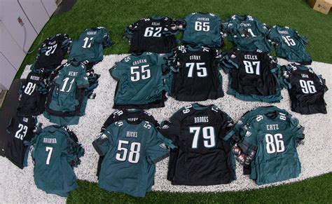 philadelphia eagles  wear slightly modified uniforms