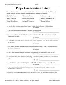 people from american history worksheet for 4th grade