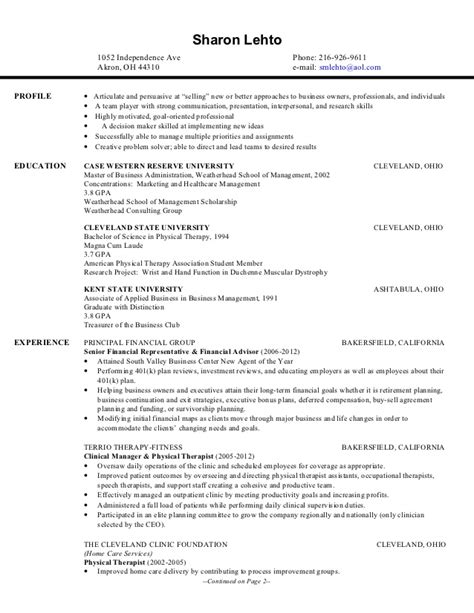 Therapy Graduate Resume Sles by Current Business Resume 2