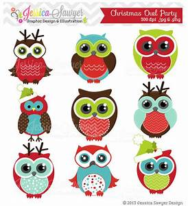 INSTANT DOWNLOAD, Christmas owl clipart for personal and ...