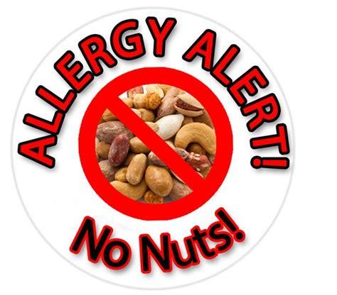 nuts sticker allergy sticker nut allergy sticker allergy