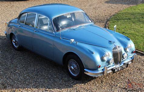 Light Blue Jaguar by Jaguar Mk2 1965 2 4 Manual Overdrive Opalescent Light Blue