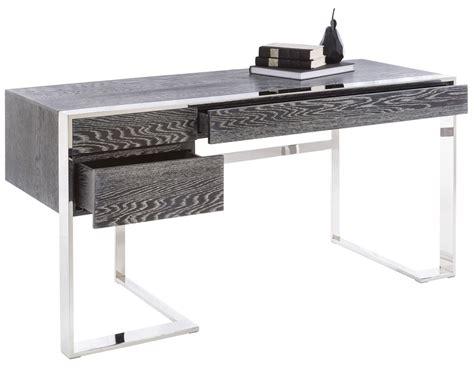 gray desk with drawers dalton grey 3 drawer desk 100672 sunpan modern home
