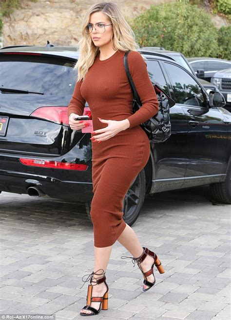 Khloe Kardashian puts her curvaceous body on display