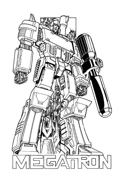 megatron poster coloring page coloring pages color adult coloring pages