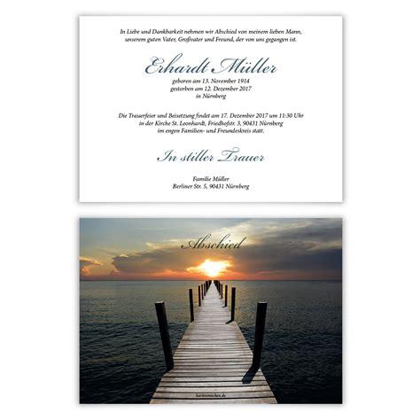 individuelle trauerkarten einladung trauerfeier karten