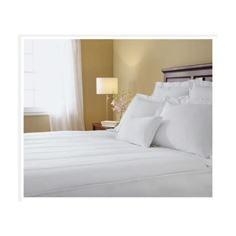 heated mattress pad king sunbeam quilted heated electric mattress pad stripe
