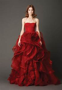 dressybridal learn wedding dresses 2013 trends from vera With wedding dresses red