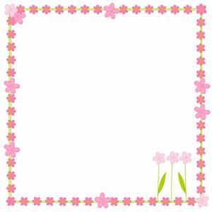 free digital flower border scrapbooking elements - Clipart