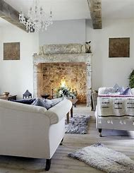 Farmhouse Living Room Fireplace