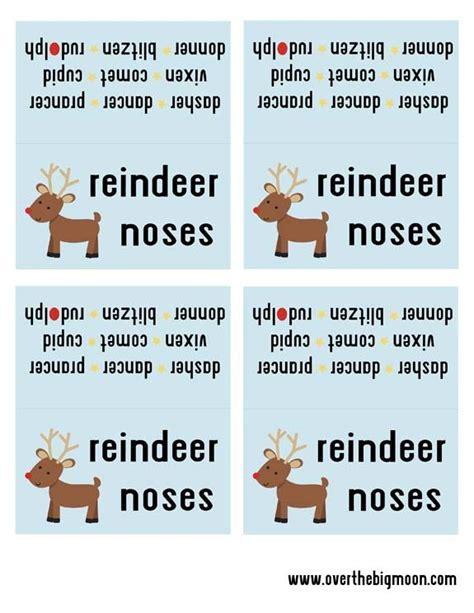 reindeer noses treat bag printable reindeer noses kids