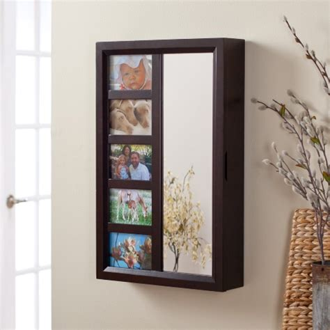 Jewelry Armoire Wall Mount Mirror by Photo Frames Wall Mount Jewelry Armoire Mirror Espresso