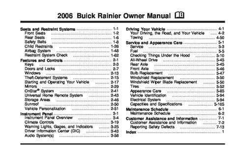 buick rainier owners manual  give   damn