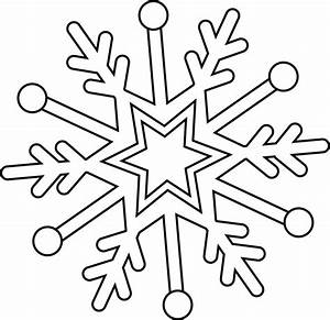 Flocon De Neige En Papier Facile Maternelle : coloriage flocon de neige facile dessin gratuit imprimer ~ Melissatoandfro.com Idées de Décoration