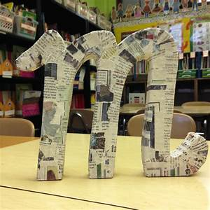 24 DIY Paper Mache Letters Guide Patterns