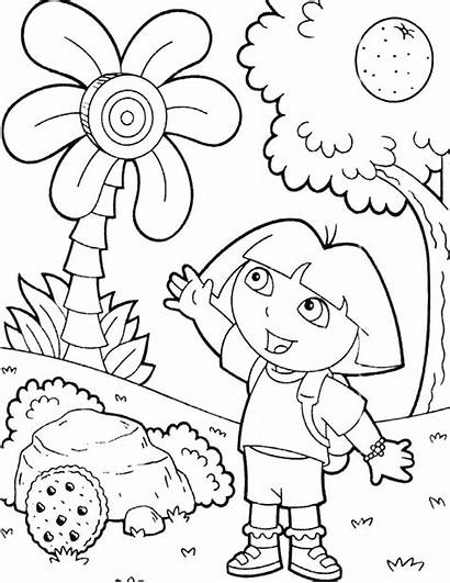 Dora Coloring Explorer Printable Learn Adult Characters