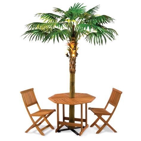 lighted palm tree for the lighted palm tree umbrella hammacher schlemmer