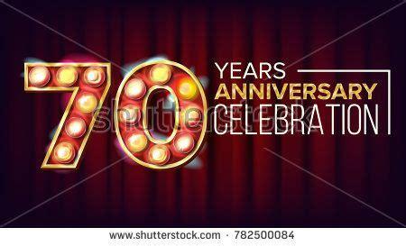 years anniversary banner seventy seventieth