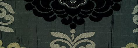 Damask Curtains, Luxury Made To Measure Silver, Beige & Black