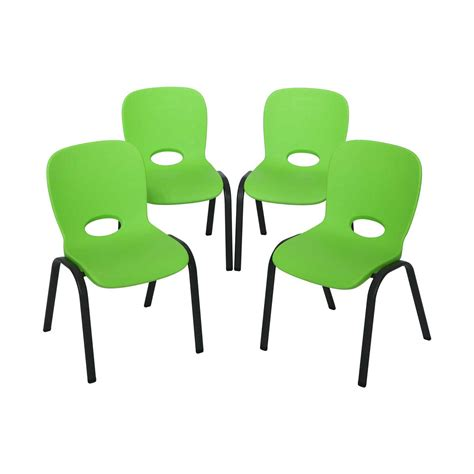 Lifetime Childrens Stacking Chairs lifetime childrens stacking chairs 80473 4 pack lime green