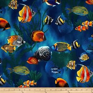 Island Sanctuary Sea Tropical Fish Cobalt - Discount