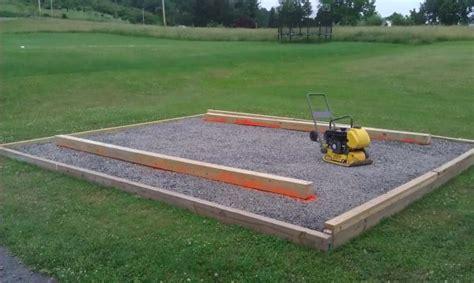 gravel shed base explained sheds  home