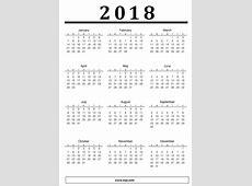 Download calendar 2018 printable portrait 2019 2018