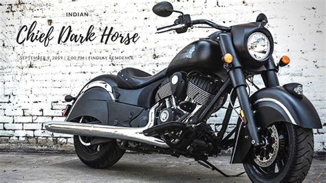 New 2018 Indian Chief Dark Horse Power-cruiser Category