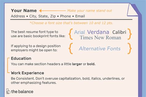 Cv Font Type by The Best Font Size And Type For Resumes