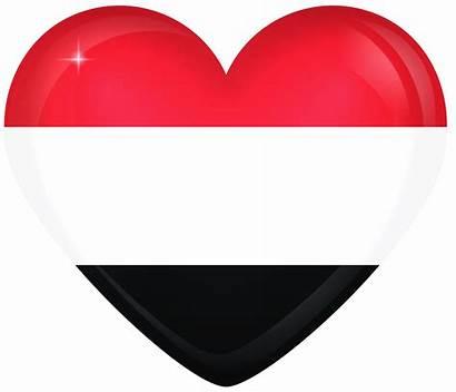 Yemen Flag Heart Flags National Bendera Egypt