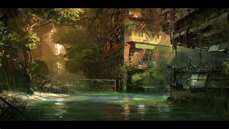 Sword Art Online Scenery Crysis 3 River Concept Art Just Push Start
