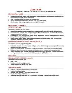 Profile Sentence For Resume Exles by How To Write A Professional Profile Resume Genius