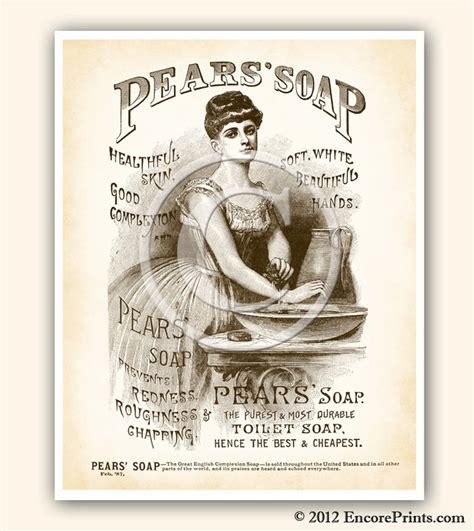 vintage bathroom decor pears soap ad vintage art print