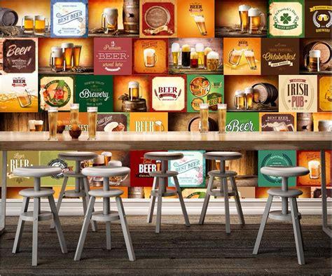 custom photo mural  wallpaper beer trademark restaurant