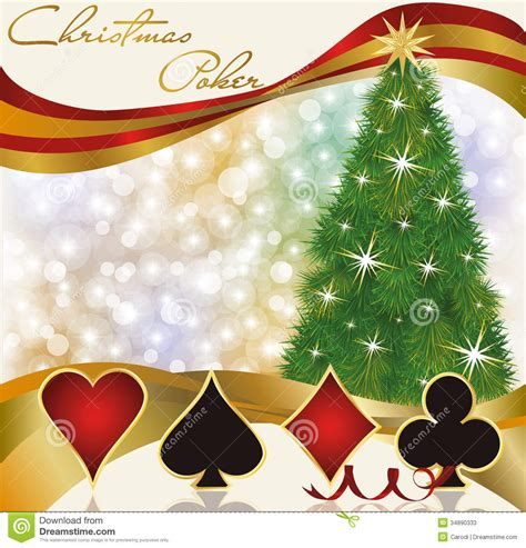 christmas poker casino background stock vector image