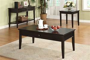 3pc middleton dark cherry solid wood felt lined drawer With cherry wood coffee table sets