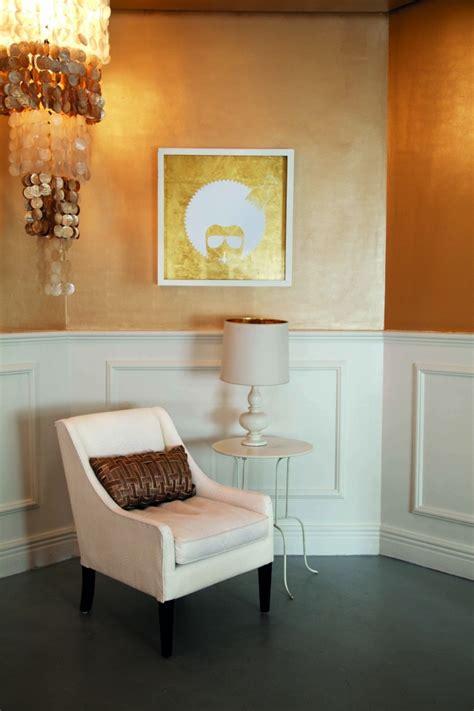 gold farbe wand wandgestaltung mit farben ideen in gold und goldnuancen