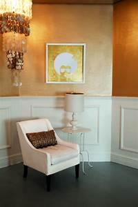 Wand Metallic Effekt : wandgestaltung mit farben ideen in gold und goldnuancen ~ Michelbontemps.com Haus und Dekorationen
