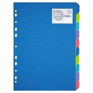 wilko subject dividers a4 10pk at wilkocom With document divider