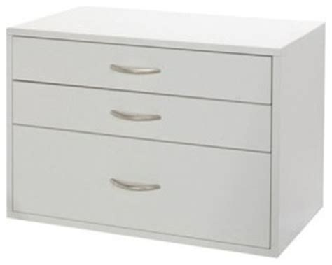 organized living freedomrail big o box 3 drawer unit