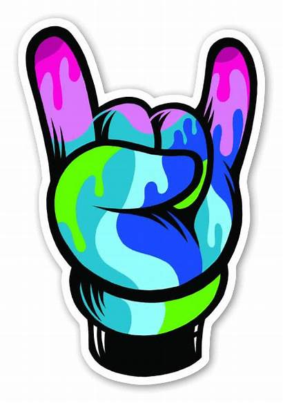 Sticker Pop Rock Hand Stickers Artist Custom