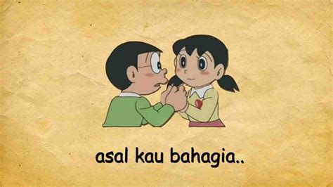 armada asal kau bahagia lyric nobita  shizuka youtube