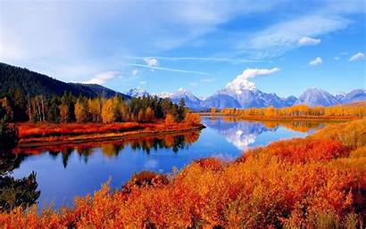 Desktop Autumn Scenes Scene Fall Background Wallpapers