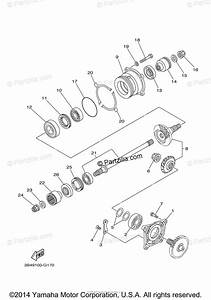 Yamaha Atv 2009 Oem Parts Diagram For Middle Drive Gear