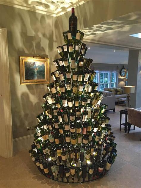 25 unique wine bottle christmas tree ideas on pinterest