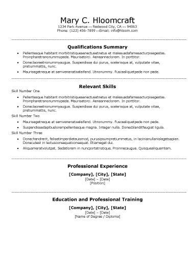 Traditional Resume Exle by Free Functional Centred Traditional Cv Resume Template In