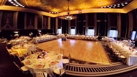 wedding ceremony to reception room flip at the omni william penn hotel