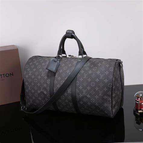 replica men lv louis vuitton  keepall  handbag monogram travelling bag gray lv